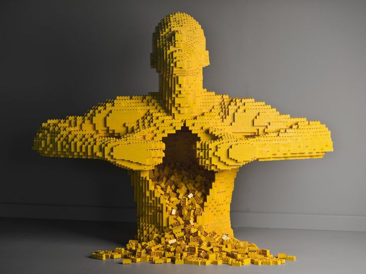 Sawaya couldn't get museums to take him seriously when he started as a Lego artist.