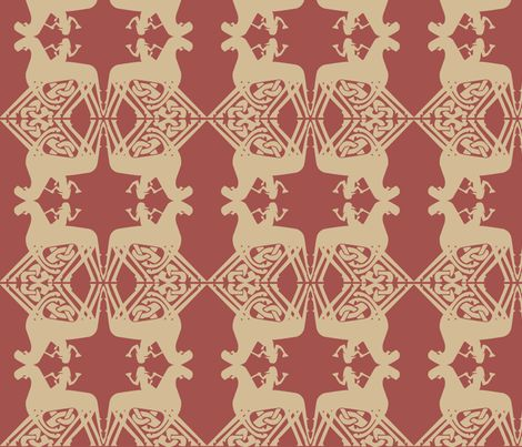 Odin Viking design Sleipnir fabric from a rune stone by susie-lotta_designs on Spoonflower - custom fabric