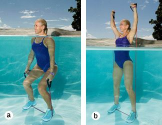 Best 25 water aerobics routine ideas on pinterest water aerobics workout water aerobic for Swimming pool exercises for buttocks