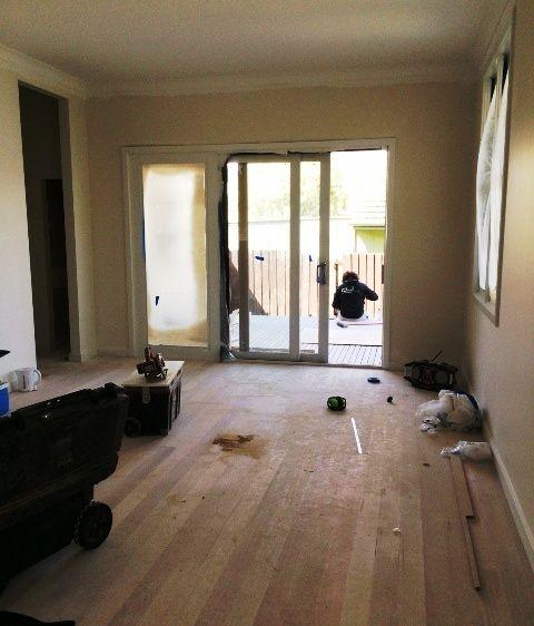 new family room taking shape.
