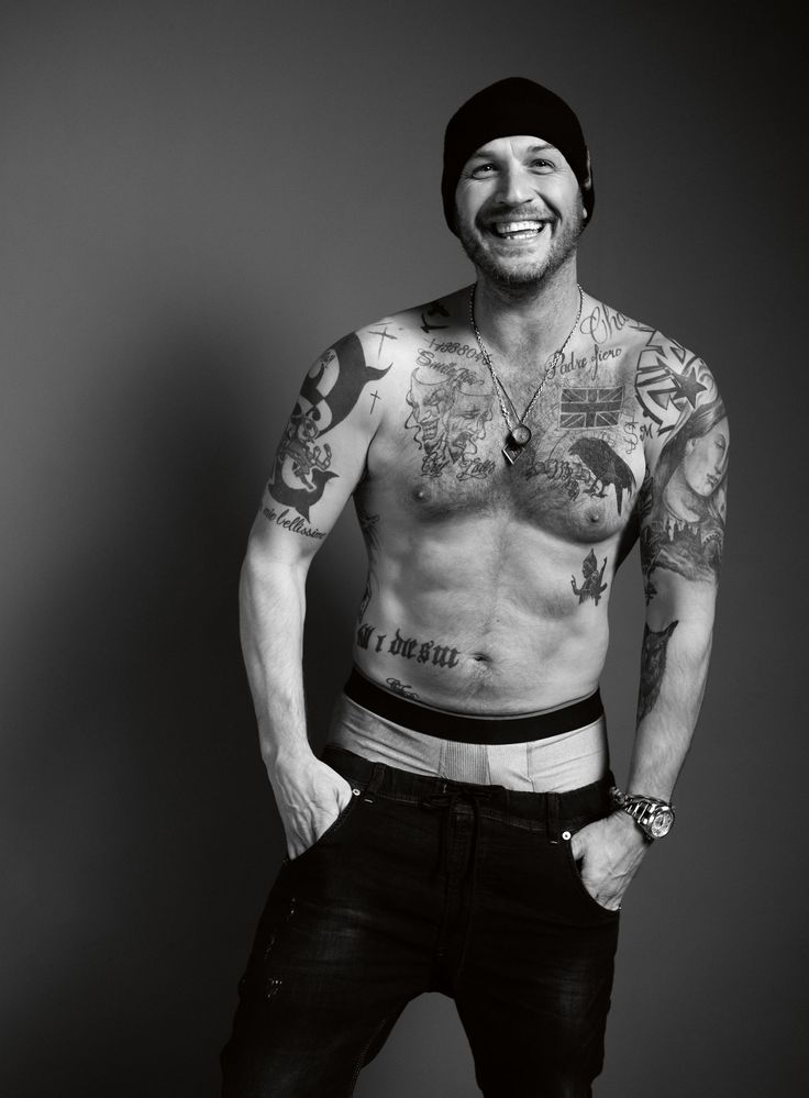 Tom Hardy - UK Esquire January 2017- he is the only man the saggy pants look is acceptable on!
