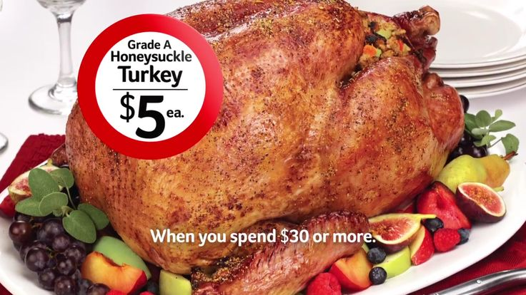Winn-Dixie: ANY Size Honeysuckle Turkey Just $5 Each with $30 Purchase(11/20-11/22)