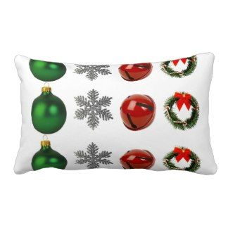 Christmas Decoration, Star, Bell, Wreath Pillow
