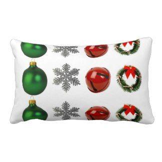 Christmas Decoration, Star, Bell, Wreath Pillow