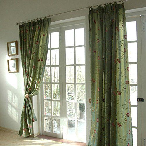Bingirl 2 Pcs Charming Style Green Flower Faux Sil…