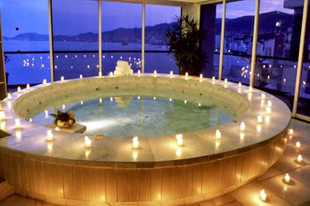 Romantic bathtub I would never leave!