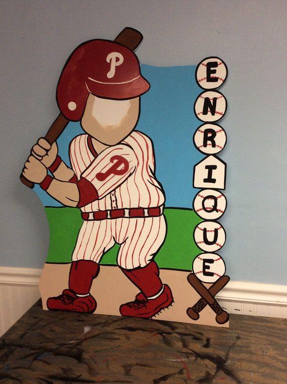 Béisbol personalizada fiesta foto stand por LittleGoobersParty