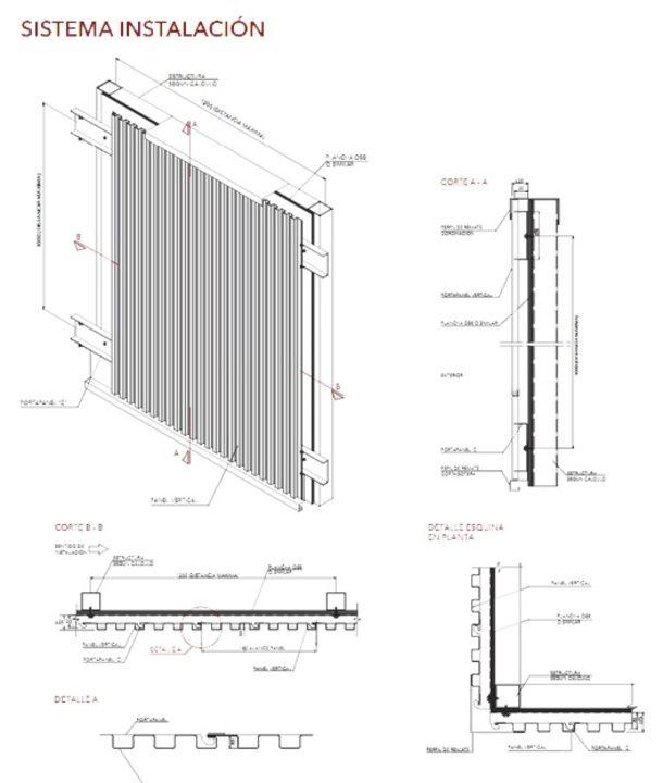 Screenpanel en acero corten y Alumelt, Quadroline 15x10 en Joyería José…                                                                                                                                                                                 Más