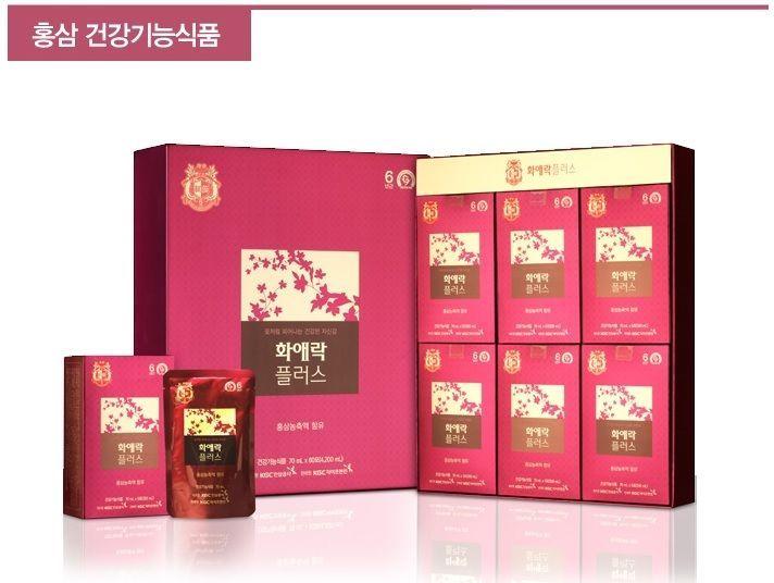 Korean Red Ginseng Cheong Kwan Jang Hwaaerak-Plus 70ml*30 EMS Free shipping #KGCKoreanRedGinseng