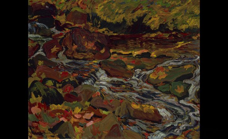 J.E.H. MacDonald (1873 - 1932), Leaves in the Brook, 1919
