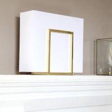 Flat white table lamp in metal Castell // Sessak #Nordic #Scandinavian #contemporary