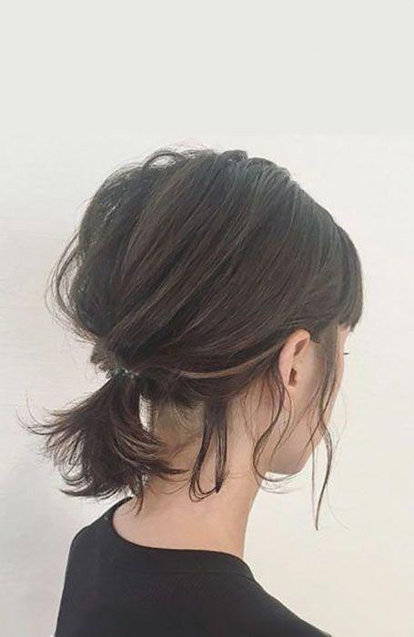 Messy Short Hair Updo 2 #shorthairstylesforthickhair