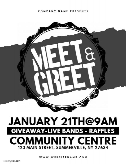 meet greet flyer postermywall meet
