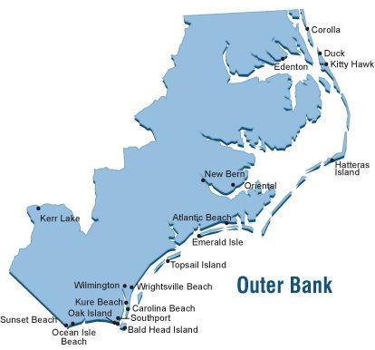 Outer Banks Map Outer Bank North Carolina Vacation
