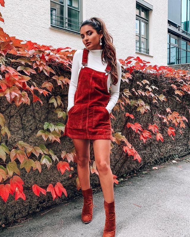 fashion inspo // herbstoutfit // rote overalls