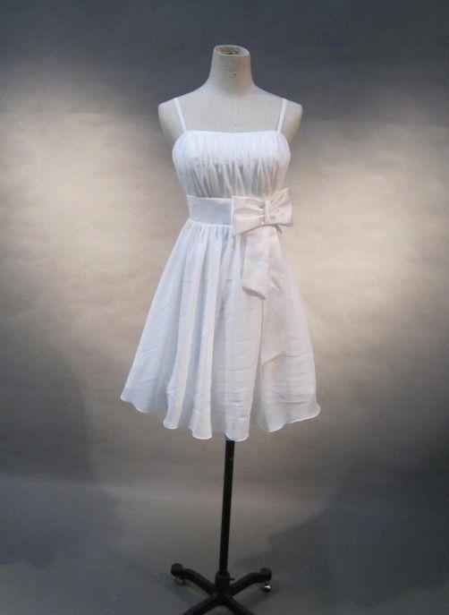 Cheap casual white short beach wedding dress cheap beach for Informal wedding dresses cheap