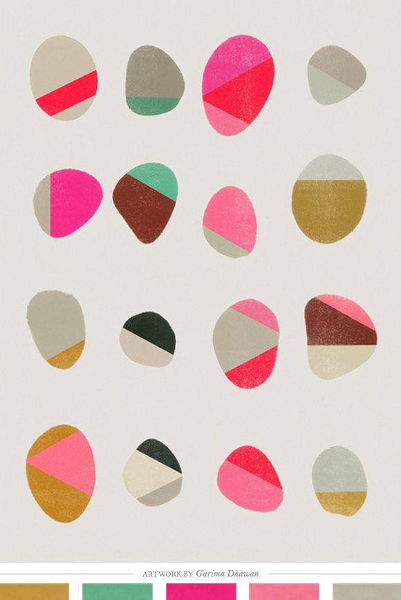 Painted Pebbles Art Print by Garima Dhawan