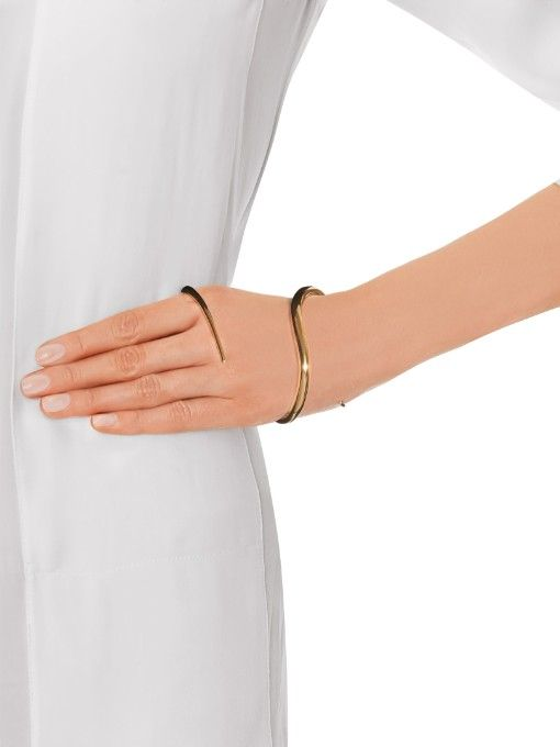 Charlotte Chesnais Eden gold-plated palm cuff