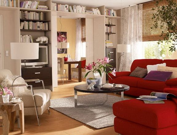 How to decorate with a red couch google search va - Living room color schemes red couch ...