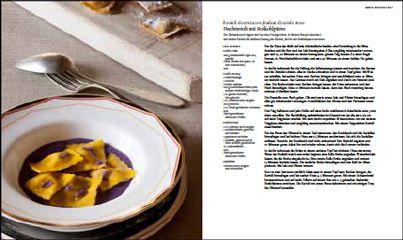 Rezept von Maddalena Caruso: Fischravioli mit Rotkohlpüree