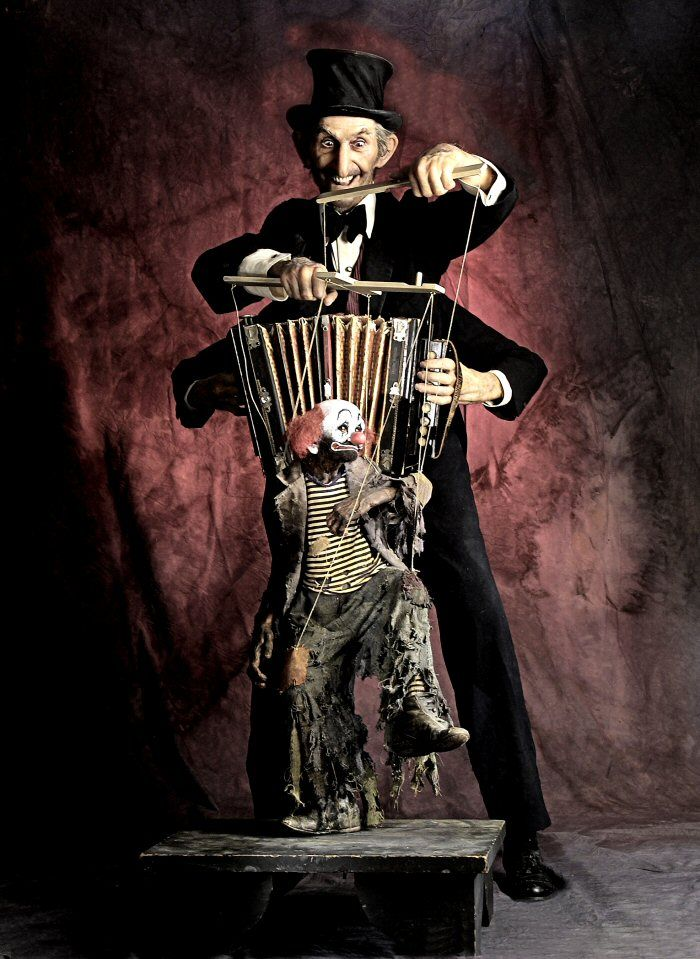 The ultimate freak out would be to commission a very expensive marionette of a family member or close friend, then dress as a puppet master feature that marionette.  I don't mean Halloween.  Any day of the year would be fine.