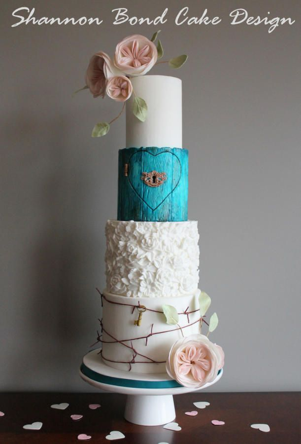 Forbidden Love Wedding Cake - Cake by Shannon Bond Cake Design