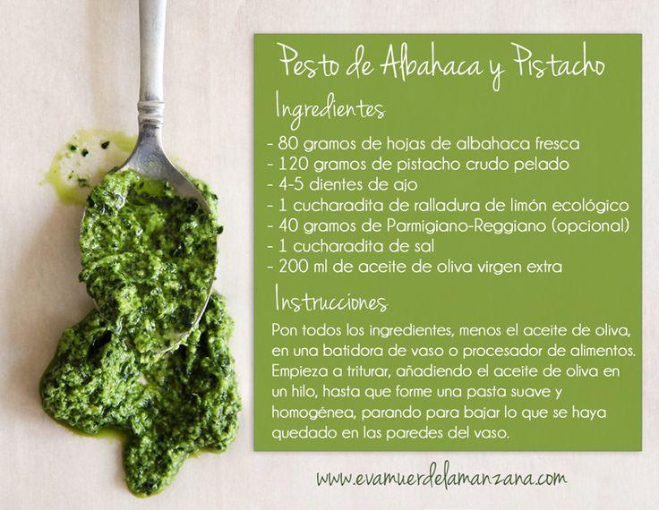 Mini Receta: Pesto de Albahaca y Pistacho