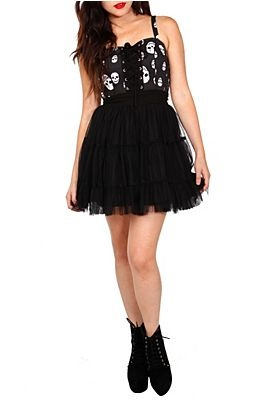 Dresses   Clothing http://www.hottopic.com/hottopic/Apparel/Dresses//Skull+Tulle+Dress-704971.jsp#