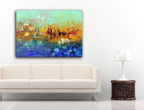 Modern art painting original abstract landscape by artstudioAreti