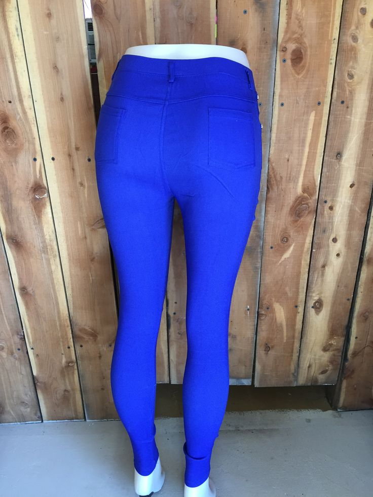 A combination of jeans and leggings, these are one of our top selling  items! Fabric is cotton, nylon and spandex.