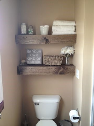 Desert Domicile: DIY $15 Chunky Wooden Floating Shelves.