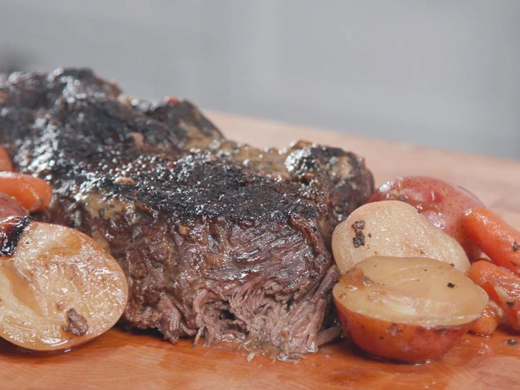 Amy Grant's Pot Roast Recipe | Pot roast is one of my very favorite dishes. Over time, I've experimented with different ingredients and finally feel like I've landed on the winning combination. It is extra special making it in Vince's grandmother's roasting pan...a speckled, blue enamel roasting pan. That has been reason enough for me to perfect my pot roast recipe. The most important part is to cook [the roast] all day and not rush it. Pot roast is Southern comfort food at its finest, so…