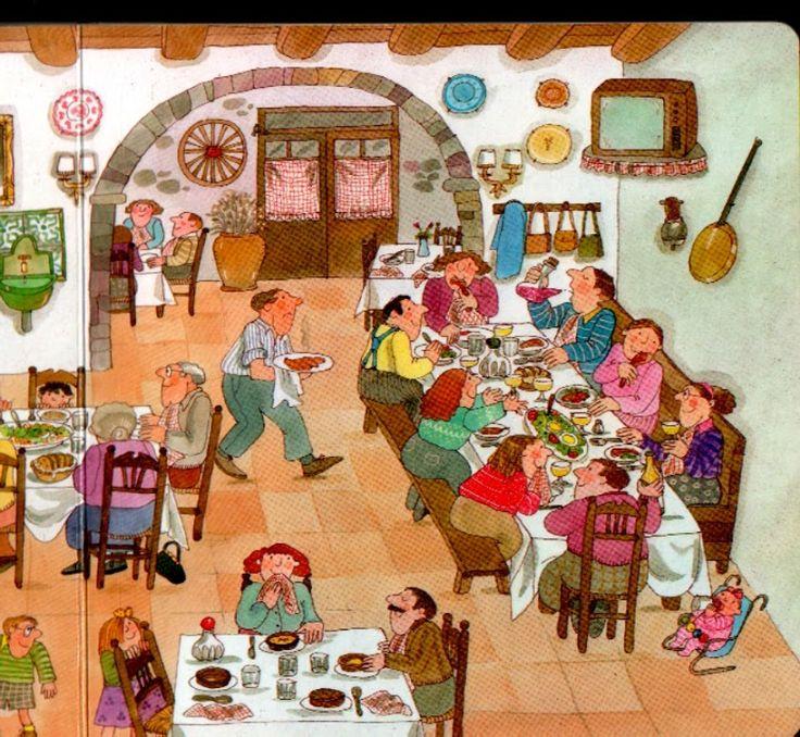 restaurant 2, praatplaat voor kleuters
