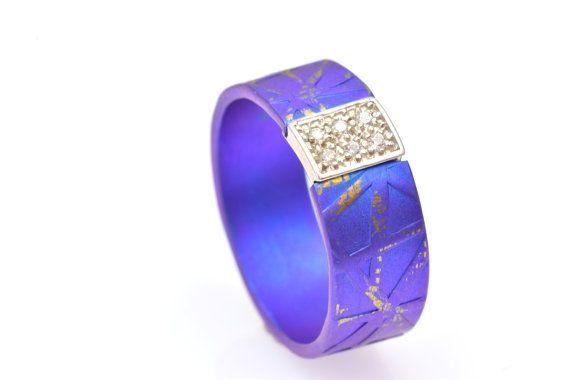 Anodized Titanium Ring  Engagement Ring Alternative by Giampouras #titanium #unique #promisering