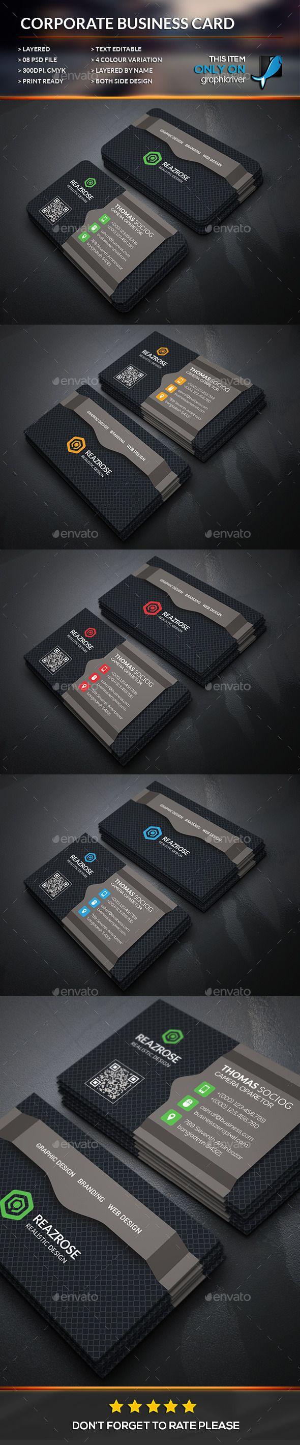 Creative Corporate Business Card Template #design Download: http://graphicriver.net/item/creative-corporate-business-card/12611120?ref=ksioks