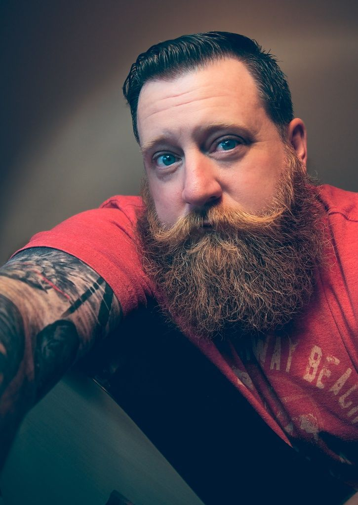 Full thick red beard and big styled mustache handsome for Red beard tattoo