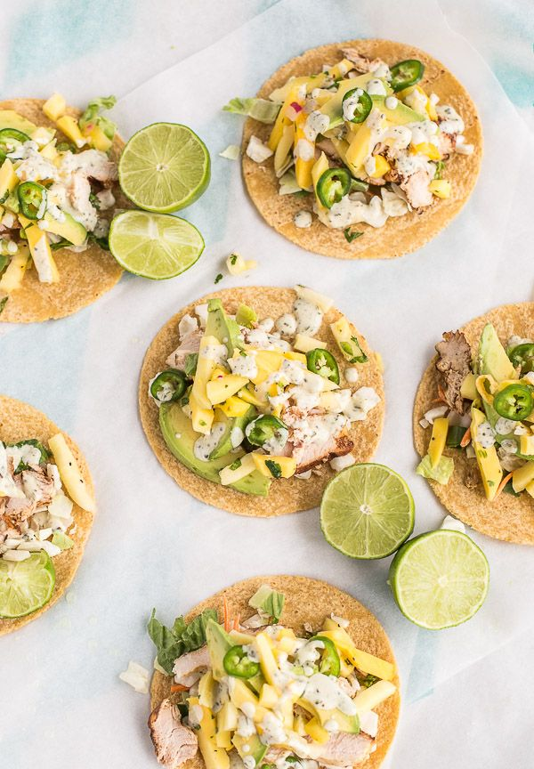 Try this recipe for pineapple mango chicken tacos.