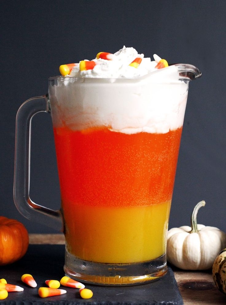 layered candy corn punch - Halloween Punch Alcohol