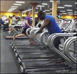 This fitness enthusiast, who is just owning this whole gym thing: