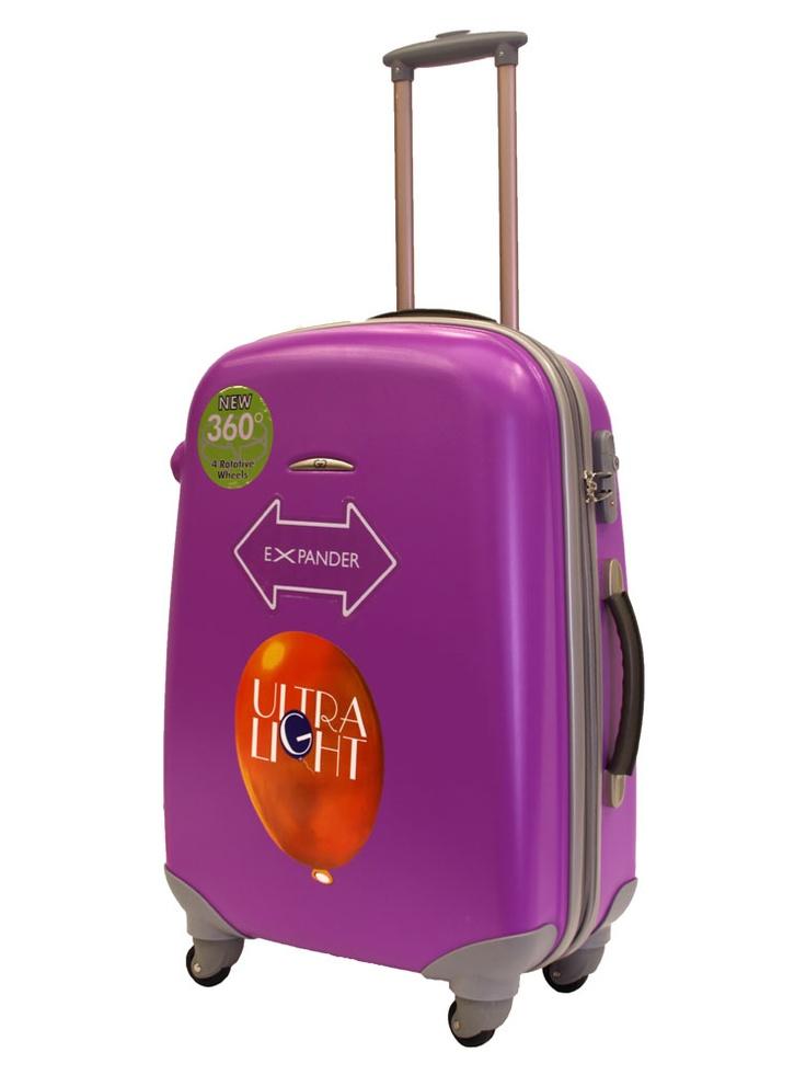 Valise trolley soute à roulettes - GILANCE  - Fushia - ZT92L/63