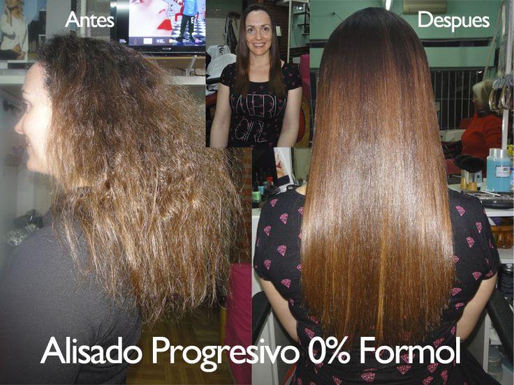Antes y después. Sobre cabellos con reflejos