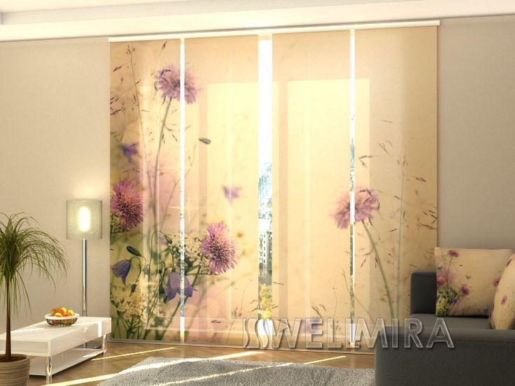 Amazing Set of Panel Curtains Field Wellmira ModernCurtains PanelCurtains Curtains JapaneseCurtains Fotogardine Schiebevorhang Fl chenvorhang