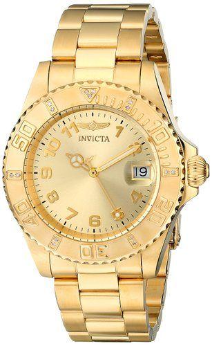 Precio recomendado: EUR 290,00 Precio de la oferta EUR 92,55 Ahorras: EUR 197,45 (68%) Precio final del producto INVICTA  15249 - Reloj de cuarzo para mujer, con correa de acero inoxidable chapado, color dorado
