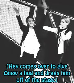 This is the cutest thing done by key :3 #Onew #KimKiBum #SHIPALERT