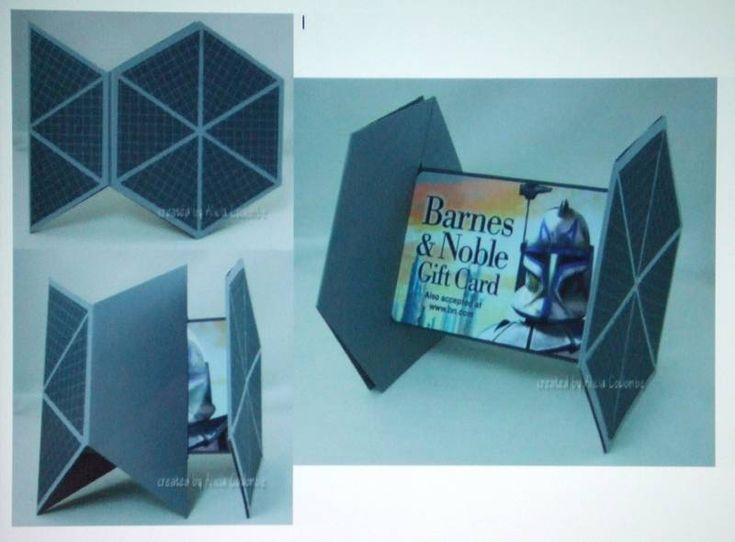 Star Wars Tie Fighter gift card holder. I need to make one of these!
