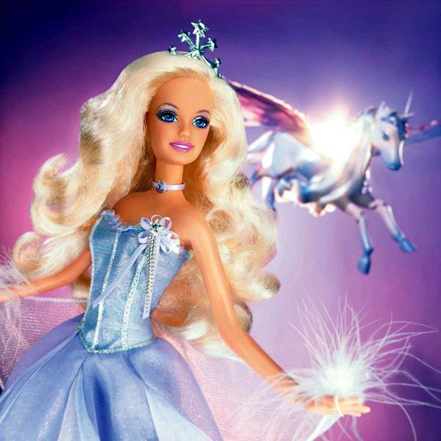 Cute Barbie Dolls Wallpapers Free Download Fairy Princess Barbie In Blue And Unicorn Barbie Doll