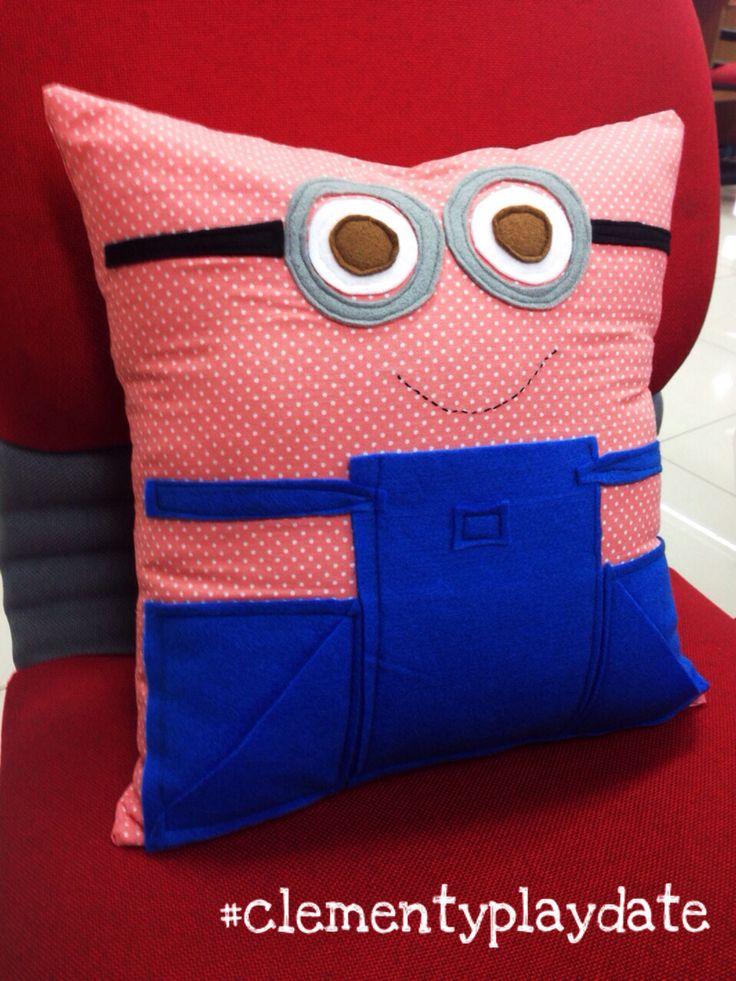 It's #minions or #patrick ? #pillow #handmade #DIY #clementyplaydate