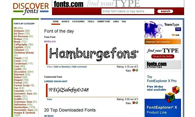 Discover Free Fonts, más de 13000 fuentes de texto gratis para descargar