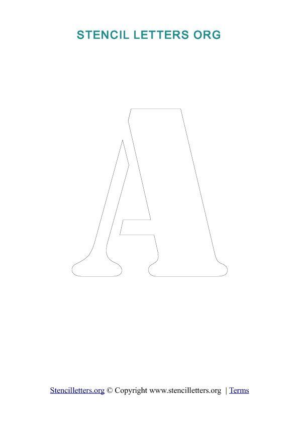 pochoirs au format pdf (à télécharger lettres séparées ou alphabet complet)