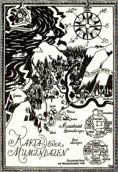 Karta över Mumindalen
